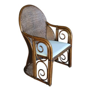 Rattan Thonet Style Bentwood & Cane Chair For Sale