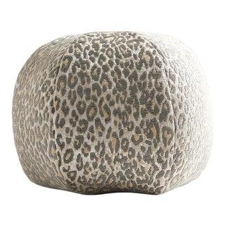 Aldeco Leopard Sphere Pillow in Gray For Sale