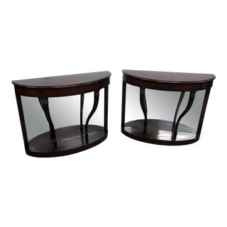 Regency Style Mirrored Back Pier Tables - a Pair For Sale