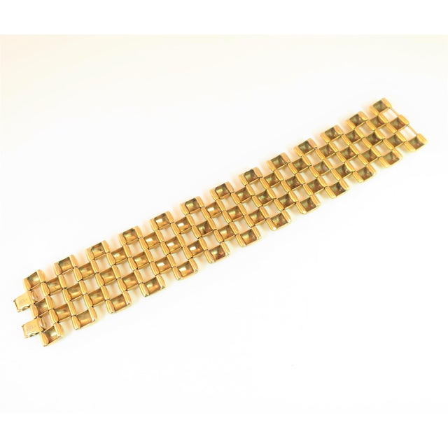 Mid-Century Kreisler Geometric Open-Link Vermeil Bracelet 1940s For Sale - Image 9 of 13