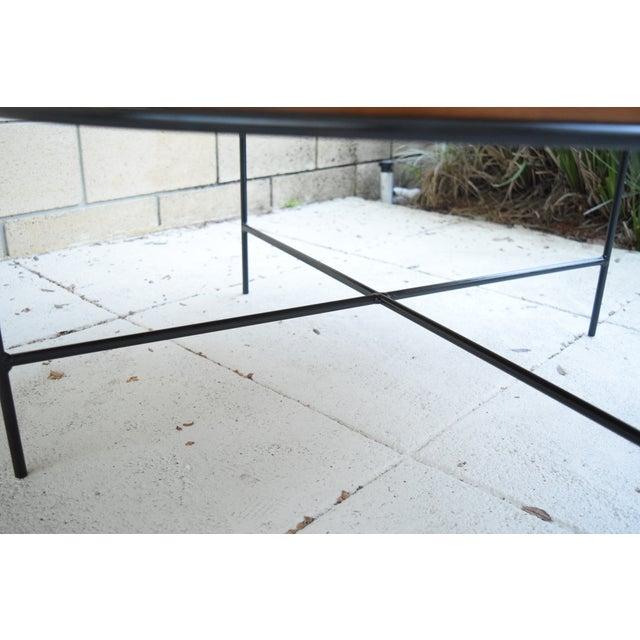 Paul McCobb Mid Century Modern Iron Base Round Coffee Table - Image 6 of 11