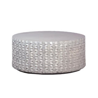 Outdoor Round Concrete Coffee Table For Sale