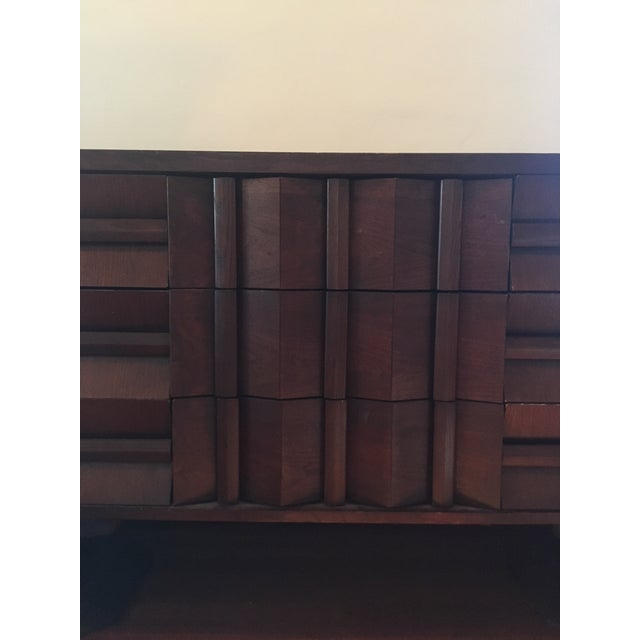 Mid-Century Modern Architectural Wooden Dresser, Credenza, or Buffet For Sale In Los Angeles - Image 6 of 7