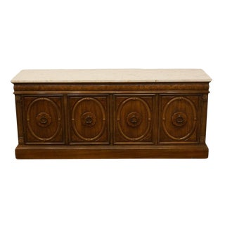 "Thomasville Furniture Monteverdi Collection 67"" Marble Top Buffet / Sideboard For Sale"