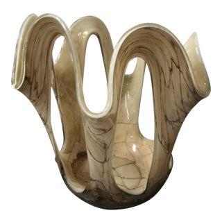Murano Glass Decorative Bowl For Sale