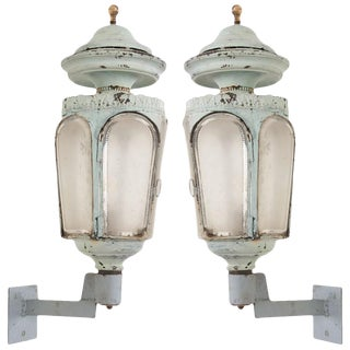 French 19th Century Louis XVI-Style Wall Lanterns - a Pair For Sale