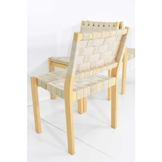 1990s Alvar Aalto 615 Chairs by Artek - Set of 8 For Sale - Image 5 of 10