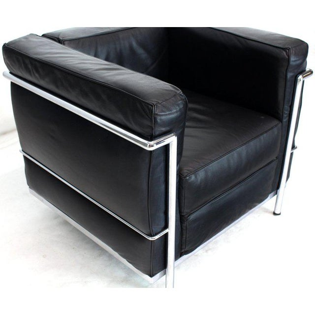 1980s Licensed Le Corbusier Club Chairs and Matching Lc2 Sofa Set- 3 Pieces For Sale - Image 5 of 12