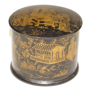 1920s Chinoiserie Papier-Mâché Box For Sale