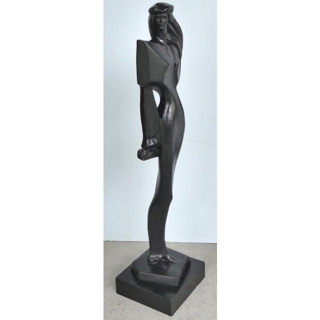 Vintage Art Deco Style Female Figure Statue For Sale In Miami - Image 6 of 9