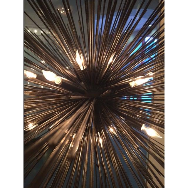 Kelly Wearstler Strada Oval Aged Iron Pendant Light - Image 3 of 3