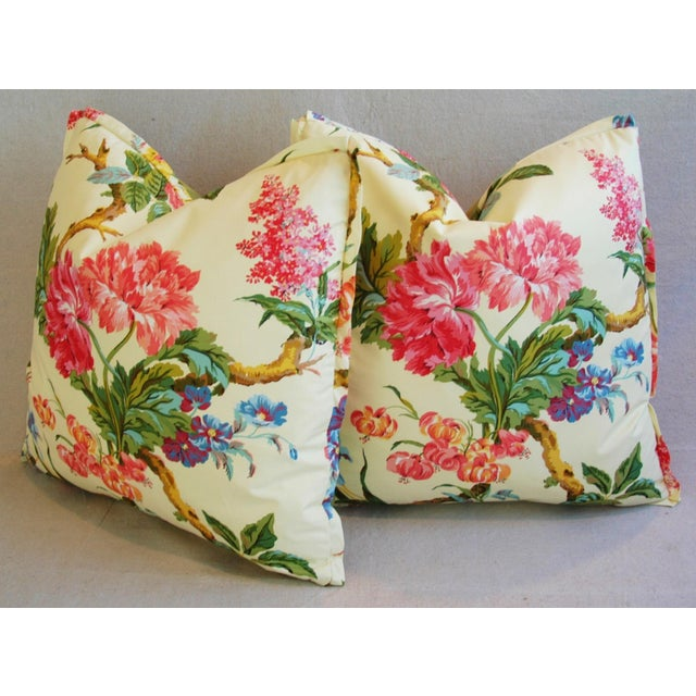 Brunschwig & Fils Coligny Spring Floral Pillows - a Pair - Image 9 of 10