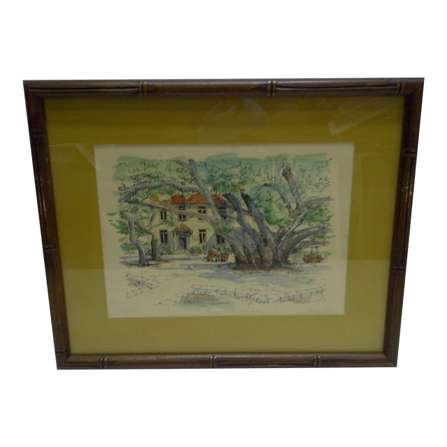 Limited Edition Signed Framed Print Bauyan Tree George Allan - Image 1 of 7