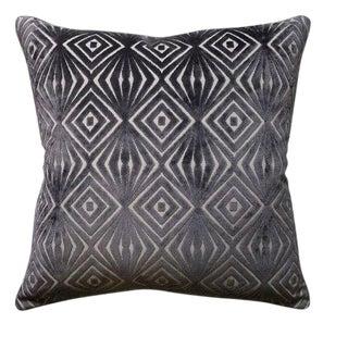 Cut Velvet Geometric Pillow