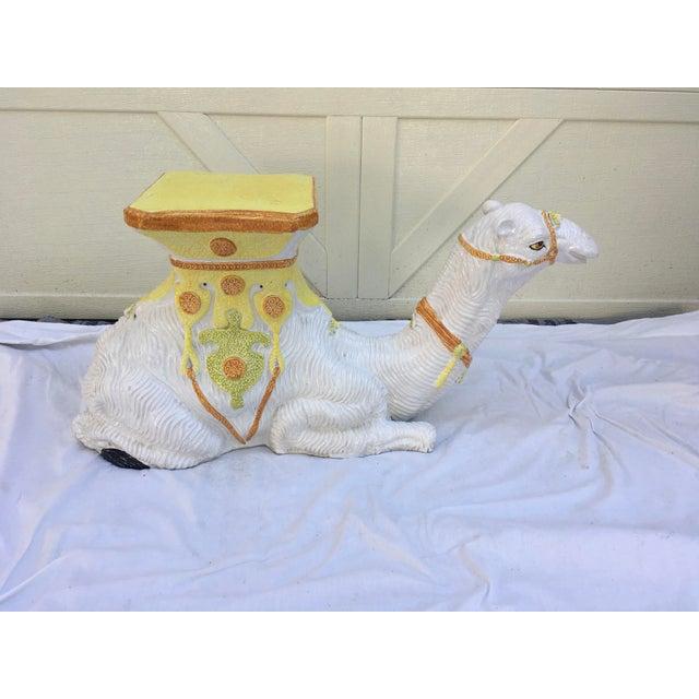 Ceramic Italian Terra-Cotta Camel Garden Seat For Sale - Image 7 of 13