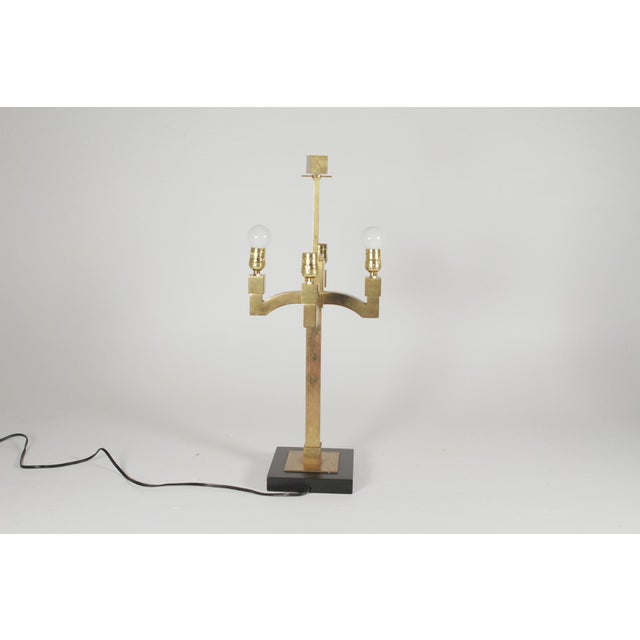 Mid-Century Modern Brass Table Lamps - a Pair For Sale - Image 4 of 11