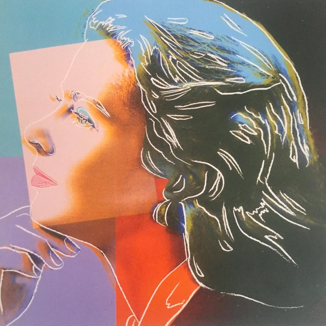 "1980s Andy Warhol Estate Rare Vintage 1989 Collector's Pop Art Lithograph Print "" Ingrid Bergman "" 1983 For Sale - Image 5 of 9"
