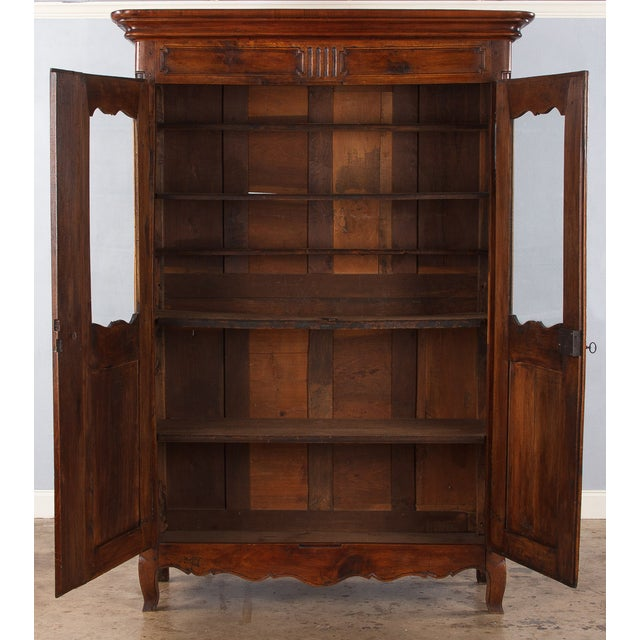 French Walnut Armoire Transition Period, 1800s - Image 10 of 10