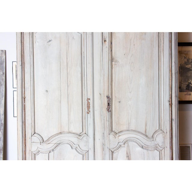 Mid 19th Century 19th Century Antique French Oak Armoire For Sale - Image 5 of 13