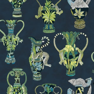 Cole & Son Khulu Vases Classic Wallpaper - 11 Yards For Sale
