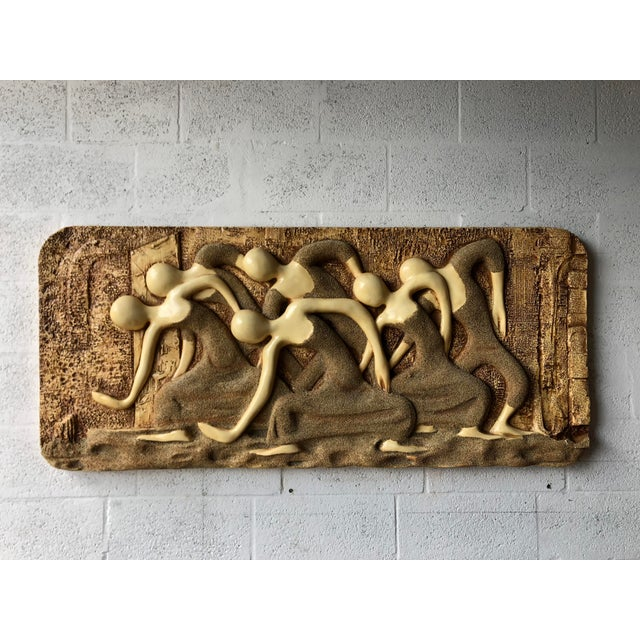 Large Vintage Mid Century Modern Brutalist Finesse Originals Fiberglass Wall Hanging Sculpture For Sale - Image 10 of 13