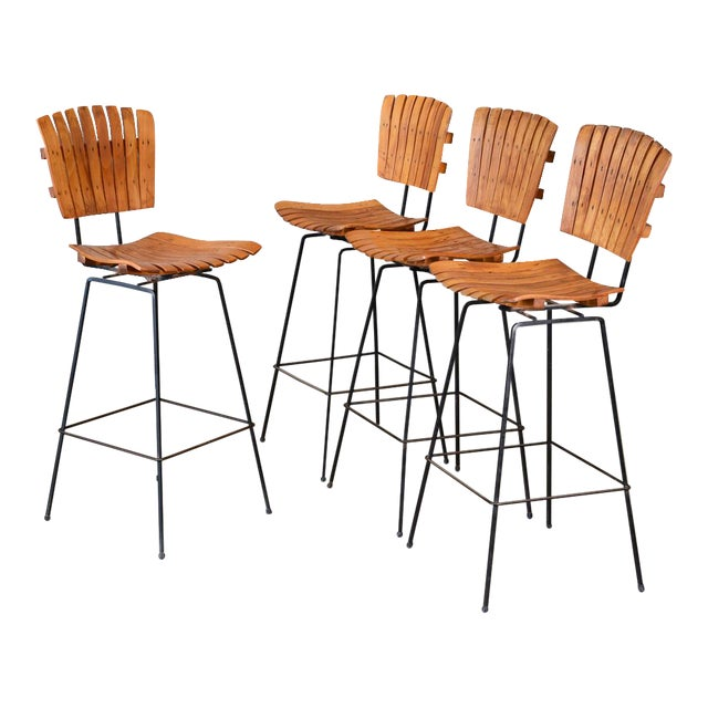 Arthur Umanoff Bar Stools- Set of 4 - Image 1 of 6