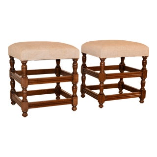 Pair of Turned Stools, Circa 1900 For Sale