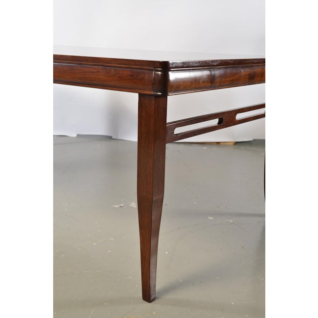Bespoke Art Deco Style Walnut Extending Dining Table For Sale - Image 9 of 12