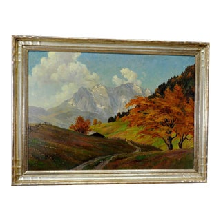 Erwin Kettemann - Landscape In The Tyrolean Alps Ca. 1930 For Sale