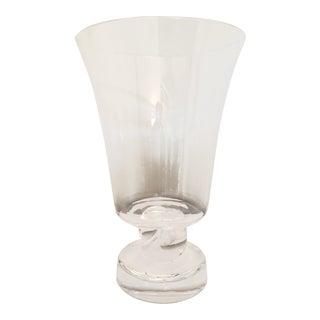 1939 Antique George Thompson Steuben Art Deco Design Rope Twist Stem Crystal Bouquet Vase For Sale