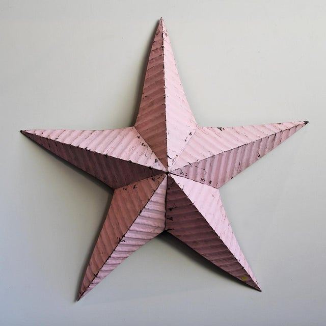 Pink Painted Metal Barn Star - Image 2 of 3
