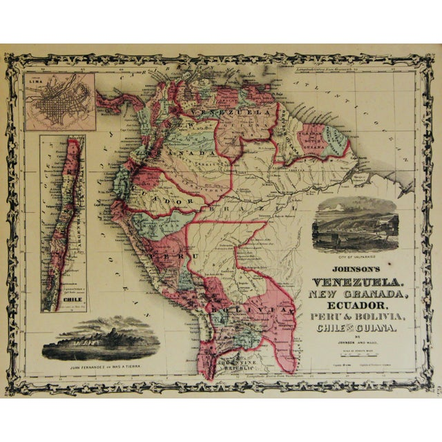 Vintage South America Map For Sale - Image 10 of 10