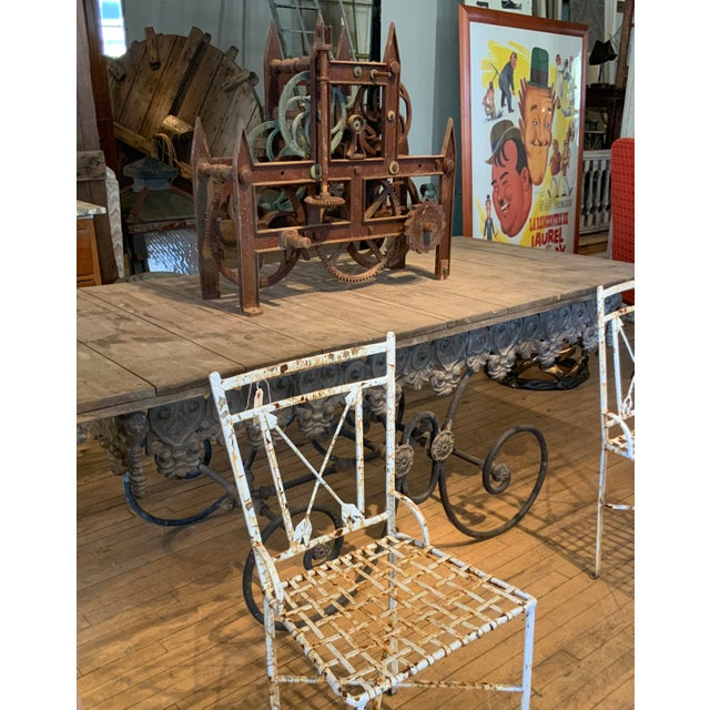 Brown 19th Century Large Iron Clockworks For Sale - Image 8 of 10