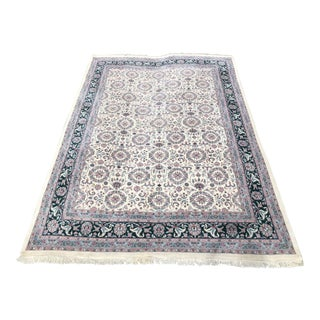 Traditional Wool + Cotton Oriental Area Rug - 9′2″ × 13′4″