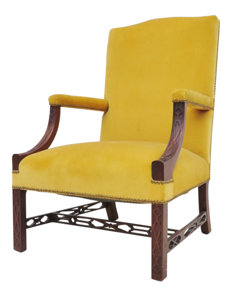 chippendale side chair. 19th Century Chippendale Library Chair Side