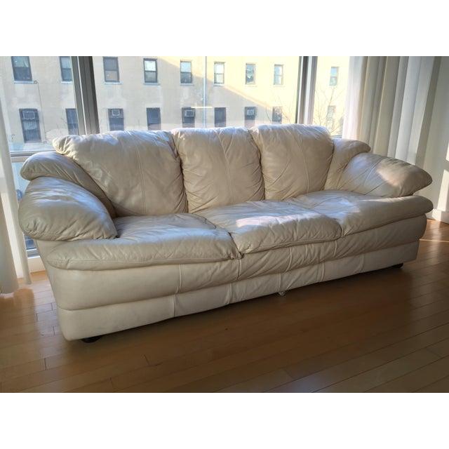 Natuzzi Italian Leather Sofa - Image 3 of 11