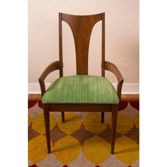 Broyhill Round Dining Table: Vintage Mid Century Modern Broyhill Emphasis Walnut Round