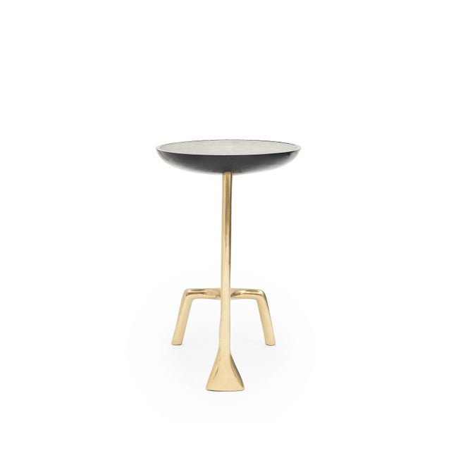 Sylvan S.F. Uovo Side Table (Shagreen & Brass ) by Sylvan San Francisco For Sale - Image 4 of 8