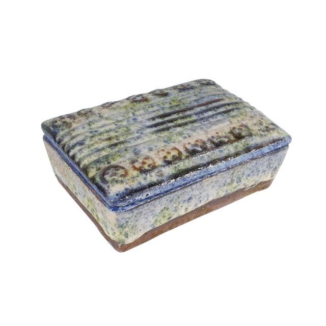 Alvino Bagni for Raymor Italian Mid-Century Blue and Green Dresser Box For Sale - Image 9 of 9