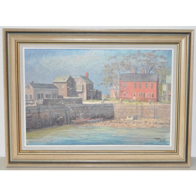 Michael Stoffa (Massachusetts) Original Oil Painting c.1970s Michael Stoffa trained at the Newark School of Fine and...