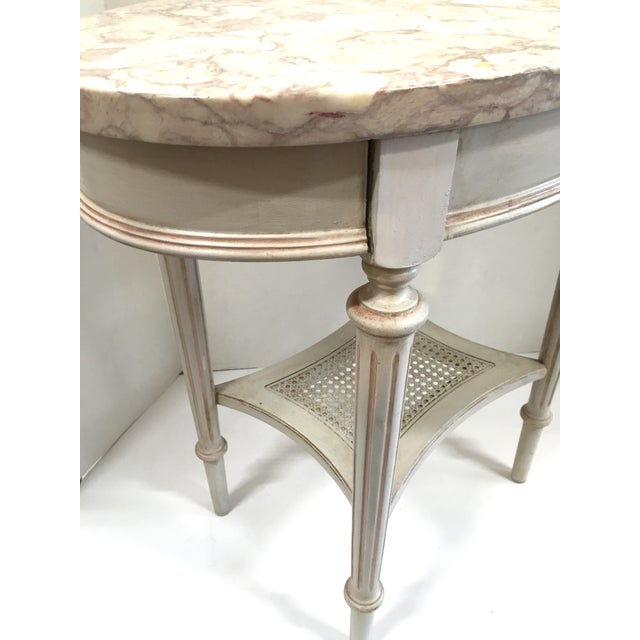 French Marble Top Side Table - Image 5 of 10