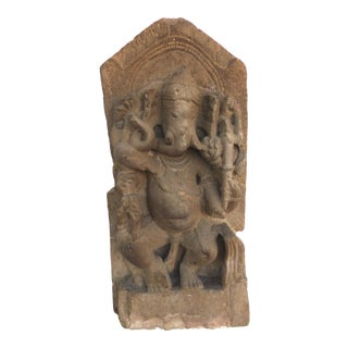 7th-Century Indian Limestone Ganesh For Sale