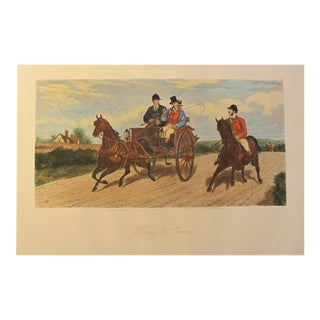 "1900's French Painting \ Poster, ""Going to Cover"" (Modern Print)"