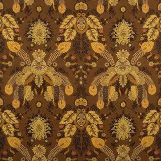 Sample, Suzanne Tucker Home Fleur De Plume Jacquard in Nutmeg For Sale