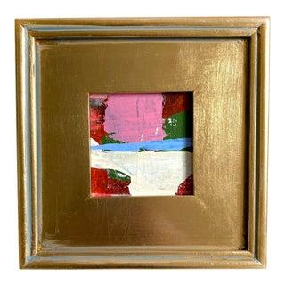 "Jessalin Beutler ""Beach Sunset"" 2021 Framed Mini Painting For Sale"