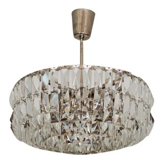 Mid-Century Crystal Chandelier by Bakalowits & Sons For Sale