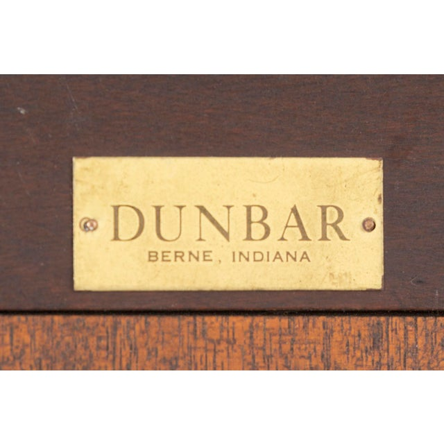 1950s Edward Wormley for Dunbar Mahogany 4977 Square Mirror For Sale - Image 5 of 7