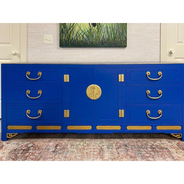 Cobalt Nine Drawer Dresser For Sale - Image 10 of 11