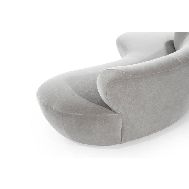 Gray Mohair Cloud Sofa on Walnut Bases by Vladimir Kagan for Directional For Sale - Image 8 of 13