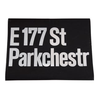 1980s Americana New York City Subway Sign For Sale